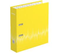 """Папка-регистратор Berlingo """"Neon"""", 70мм, ламинированная, неоновая жёлтая, AMl70803"""