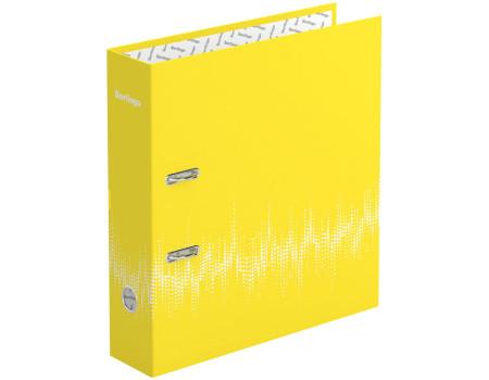 """Папка-регистратор Berlingo """"Neon"""", 70мм, ламинированная, неоновая жёлтая"""