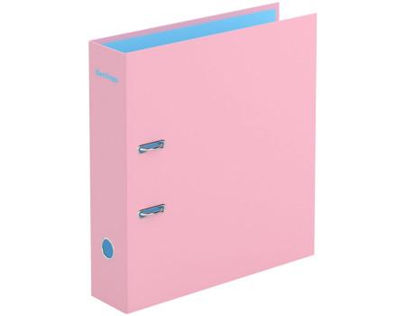 """Папка-регистратор Berlingo """"Haze"""", 80мм, матовая ламинированная, розовая"""