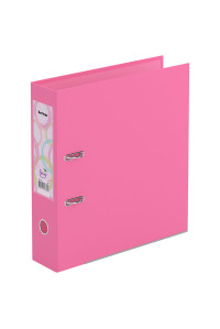 """Папка-регистратор Berlingo """"Spring"""", 70мм, бумвинил, двухстор., с карманом, ниж. мет. кант, розовая, ATb_77112"""
