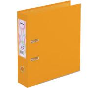 """Папка-регистратор Berlingo """"Spring"""", 70мм, бумвинил, двухстор., с карманом,ниж. мет. кант, оранжевая, ATb_77116"""