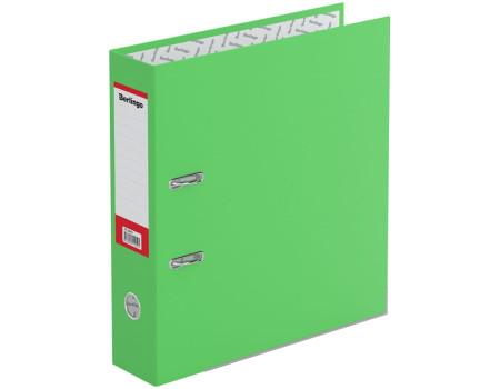 """Папка-регистратор Berlingo """"Hyper"""", 80мм, нижний метал. кант, крафт-бумага зеленая"""