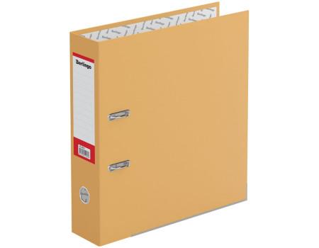 """Папка-регистратор Berlingo """"Hyper"""", 80мм, нижний метал. кант, крафт-бумага оранжевая"""