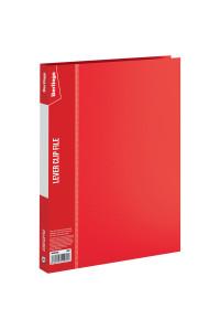 """Папка с зажимом Berlingo """"Standard"""", 17мм, 700мкм, красная, MM2338"""