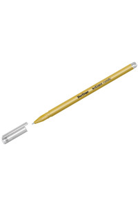 "Ручка гелевая Berlingo ""Brilliant Metallic"", золото металлик, 0,8мм, CGp_40009"