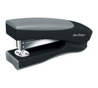 """Степлер №24/6, 26/6 Berlingo """"Office Soft"""" до 20л., пластиковый корпус, чёрный, H3110"""