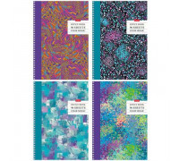 """119Тетрадь 96л., А4, клетка на гребне Hatber """"Color mosaic"""", глянцевая ламинация, 96Т4лВ1гр"""