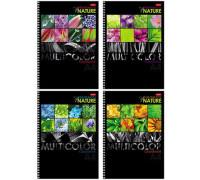 """119Тетрадь 96л., А4, клетка на гребне Hatber """"Multicolor"""", выборочный уф-лак, 96Т4вмВ3гр"""
