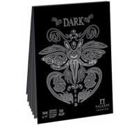 """117Планшет для эскизов и зарисовок 30л. А4 на склейке Лилия Холдинг """"Dark"""", 160г/м2, черный тонир.офсет, ПЛ-2541"""