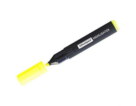 Текстовыделитель OfficeSpace жёлтый, 1-4мм