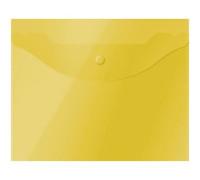 Папка-конверт на кнопке OfficeSpace А5 (190*240мм), 150мкм, полупрозрачная, жёлтая, 267528