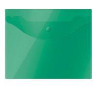 Папка-конверт на кнопке OfficeSpace А5 (190*240мм), 150мкм, полупрозрачная, зелёная, 267529