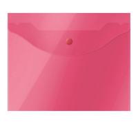 Папка-конверт на кнопке OfficeSpace А5 (190*240мм), 150мкм, полупрозрачная, красная, 267530