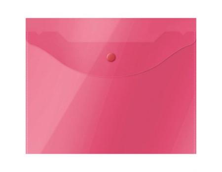 Папка-конверт на кнопке OfficeSpace А5 (190*240мм), 150мкм, полупрозрачная, красная