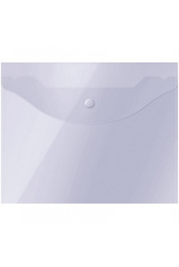 Папка-конверт на кнопке OfficeSpace А5 (190*240мм), 150мкм, прозрачная, 267532