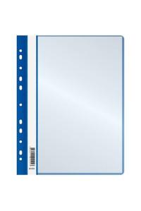 Папка с 10 вкладышами OfficeSpace, с перфорацией, 160мкм, синяя, 281209