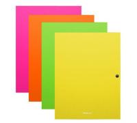 "Папка на кнопке Erich Krause ""Neon"" А4, 500мкм, ассорти, 50411"