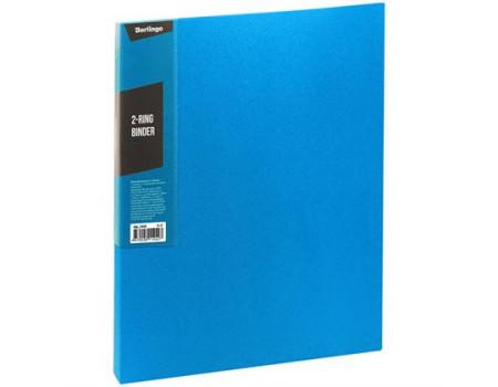"""Папка на 2 кольцах Berlingo """"Color Zone"""", 35мм, 600мкм, синяя"""
