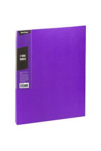 """Папка на 2 кольцах Berlingo """"Color Zone"""", 35мм, 600мкм, фиолетовая, ABp_23607"""