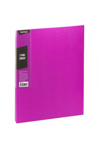 "Папка на 2 кольцах Berlingo ""Color Zone"", 35мм, 600мкм, розовая, ABp_23613"