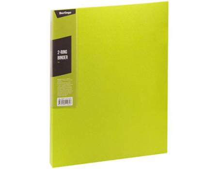 "Папка на 2 кольцах Berlingo ""Color Zone"", 35мм, 600мкм, салатовая"