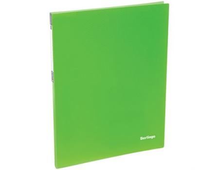 """Папка c пружинным скоросшивателем Berlingo """"Neon"""", 17мм, 700мкм, неоновая зелёная"""