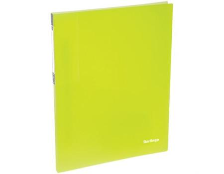 """Папка c пружинным скоросшивателем Berlingo """"Neon"""", 17мм, 700мкм, неоновая жёлтая"""