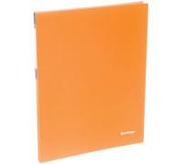 """Папка c пружинным скоросшивателем Berlingo """"Neon"""", 17мм, 700мкм, неоновая оранжевая, AHp_00804"""