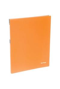 """115Папка c пружинным скоросшивателем Berlingo """"Neon"""", 17мм, 700мкм, неоновая оранжевая, AHp_00804"""