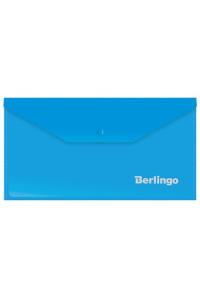 114Папка-конверт на кнопке Berlingo, C6, 180мкм, синяя, AKk_06302