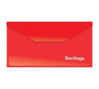 Папка-конверт на кнопке Berlingo, C6, 180мкм, красная, AKk_06303