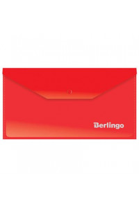 114Папка-конверт на кнопке Berlingo, C6, 180мкм, красная, AKk_06303