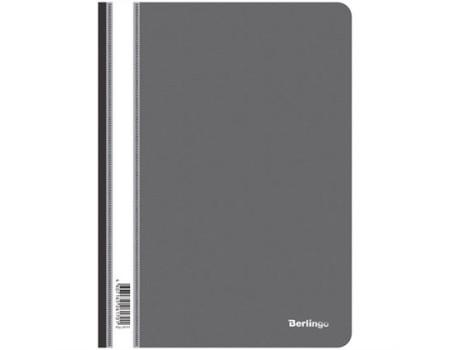 Папка-скоросшиватель пластик. Berlingo, А4, 180мкм, чёрная с прозр. верхом