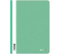 Папка-скоросшиватель пластик. Berlingo, А4, 180мкм, зеленая с прозр. верхом, ASp_04104