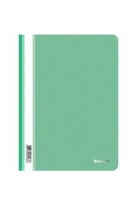 115Папка-скоросшиватель пластик. Berlingo, А4, 180мкм, зеленая с прозр. верхом, ASp_04104