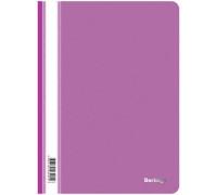 Папка-скоросшиватель пластик. Berlingo, А4, 180мкм, фиолетовая с прозр. верхом, ASp_04107