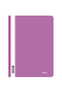 115Папка-скоросшиватель пластик. Berlingo, А4, 180мкм, фиолетовая с прозр. верхом, ASp_04107