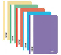 Папка-скоросшиватель пластик. Berlingo, А4, 180мкм, ассорти с прозр. верхом, ASp_04400