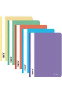 115Папка-скоросшиватель пластик. Berlingo, А4, 180мкм, ассорти с прозр. верхом, ASp_04400