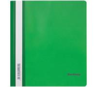 Папка-скоросшиватель пластик. Berlingo, А5, 180мкм, зелёная с прозр. верхом, индив. ШК, ASp_05104