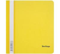 Папка-скоросшиватель пластик. Berlingo, А5, 180мкм, жёлтая с прозр. верхом, индив. ШК, ASp_05105