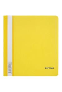 115Папка-скоросшиватель пластик. Berlingo, А5, 180мкм, жёлтая с прозр. верхом, индив. ШК, ASp_05105