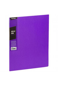 """Папка с 20 вкладышами Berlingo """"Color Zone"""", 14мм, 600мкм, фиолетовая, AVp_20607"""