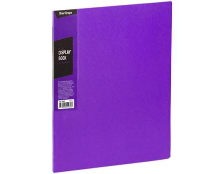 """Папка с 30 вкладышами Berlingo """"Color Zone"""", 17мм, 600мкм, фиолетовая"""