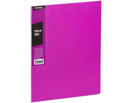 """Папка с 30 вкладышами Berlingo """"Color Zone"""", 17мм, 600мкм, розовая"""