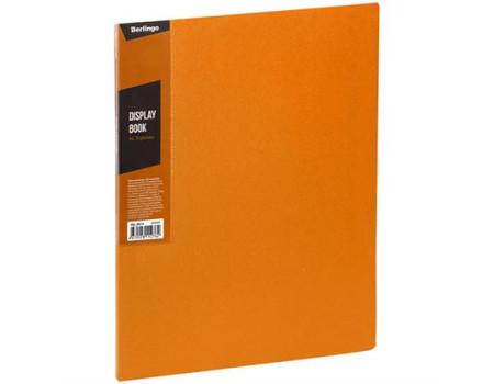 """Папка с 30 вкладышами Berlingo """"Color Zone"""", 17мм, 600мкм, оранжевая"""