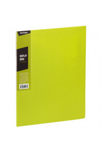 """116Папка с 30 вкладышами Berlingo """"Color Zone"""", 17мм, 600мкм, салатовая, AVp_30619"""