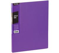 """Папка с 40 вкладышами Berlingo """"Color Zone"""", 21мм, 600мкм, фиолетовая, AVp_40607"""