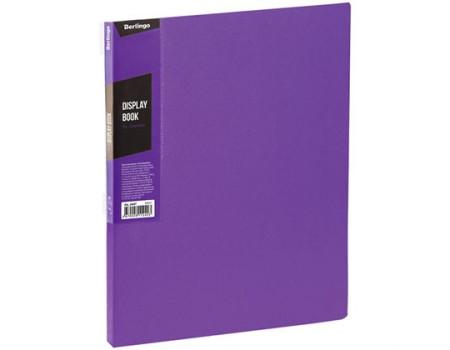 """Папка с 40 вкладышами Berlingo """"Color Zone"""", 21мм, 600мкм, фиолетовая"""