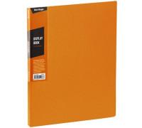 """Папка с 40 вкладышами Berlingo """"Color Zone"""", 21мм, 600мкм, оранжевая, AVp_40616"""